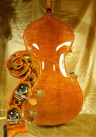 Shiny 3/4 MAESTRO VASILE GLIGA Scroll Double-Bass - by Gliga