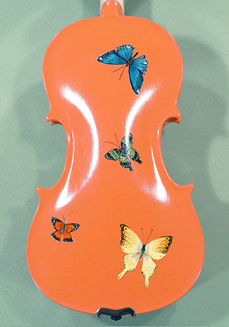 3/4 Student 'GEMS 2' Pink Butterflies Violin  - by Gliga