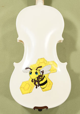 1/2 Student 'GEMS 2' White Bees Violin - by Gliga
