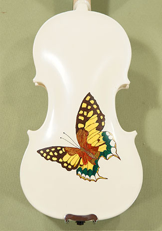1/4 Student 'GEMS 2' White Butterflies Violin - by Gliga