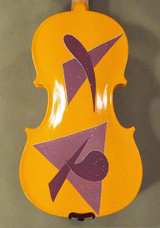 3/4 Student 'GEMS 2' Orange Abstract Violin - by Gliga