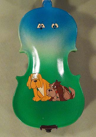 1/16 Student 'GEMS 2' Green Dogs Violin - by Gliga