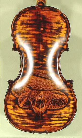 Antiqued 4/4 WORKSHOP 'GEMS 1' Snake Engraved Violin on sale