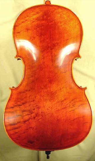 Antiqued 4/4 MAESTRO GLIGA Inlaid Double Purfling Bird's Eye Maple One Piece Back Cello Italian on sale