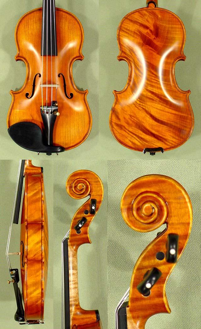 1/10 PROFESSIONAL 'GAMA Super' Wild Maple One Piece Back Violin