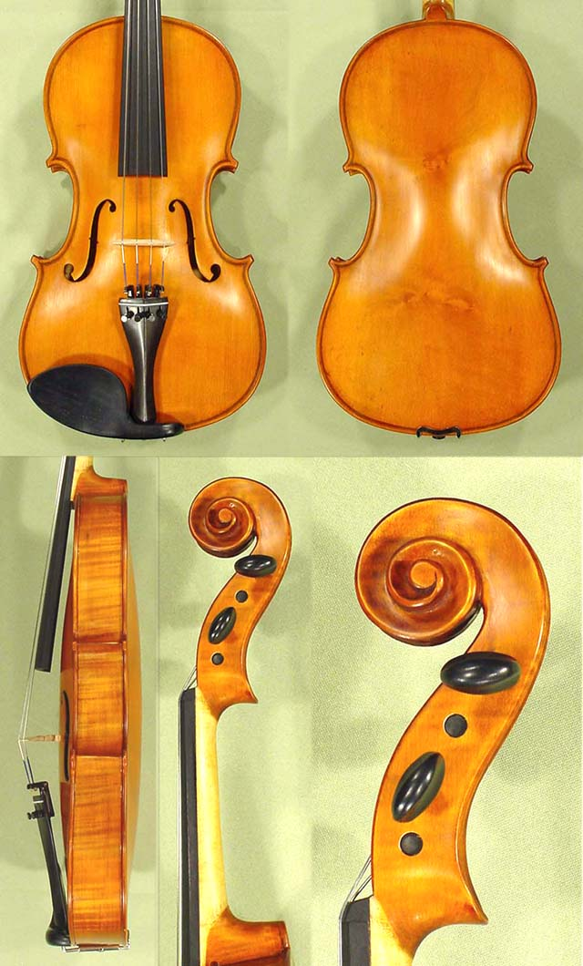 "Antiqued 15.5"" School 'GENIAL 1-Oil' One Piece Back Viola"