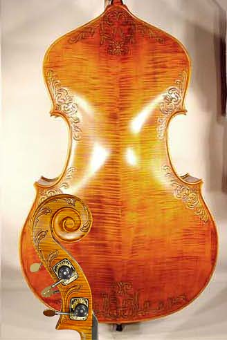 3/4 MAESTRO VASILE GLIGA Relief Wood Carving Double-Bass on sale