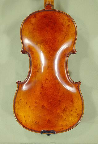 Antiqued 4/4 PROFESSIONAL 'GAMA' Left Handed Bird's Eye Maple One Piece Back Violin on sale