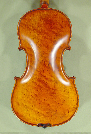 Antiqued 4/4 PROFESSIONAL 'GAMA' Bird's Eye Maple One Piece Back Violin on sale
