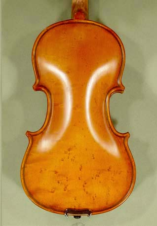 Antiqued 1/10 WORKSHOP 'GEMS 1' Bird's Eye Maple One Piece Back Violin on sale