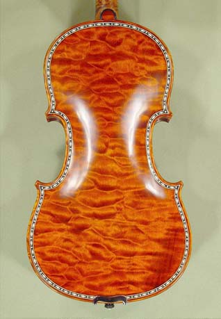 4/4 MAESTRO VASILE GLIGA Inlay Work Copy of 'Hellier 1679' Quilted Maple One Piece Back Violin on sale