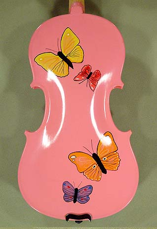 3/4 ADVANCED Student 'GEMS 2' Pink Butterflies Violin on sale