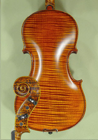 4/4 MAESTRO VASILE GLIGA Inlay Work One Piece Back Violin on sale