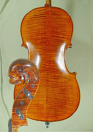 4/4 MAESTRO VASILE GLIGA Relief Wood Carving 'Tyrolean' Scroll Cello on sale