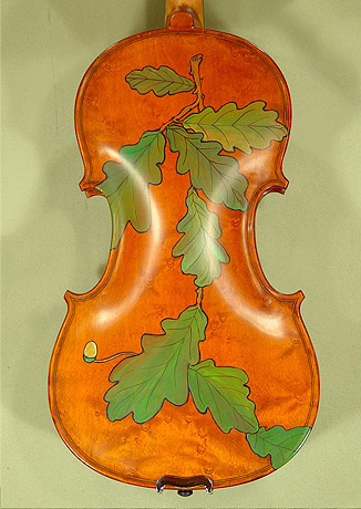 4/4 WORKSHOP 'GEMS 1' Bird's Eye Maple One Piece Back Leaves Violin  on sale