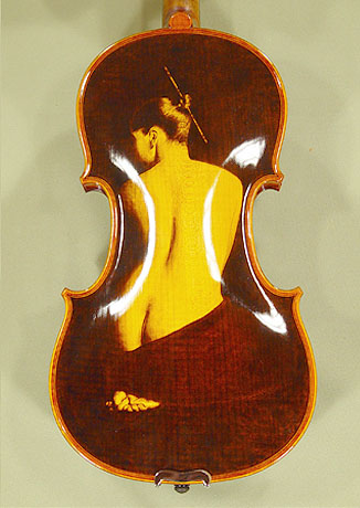 4/4 MAESTRO VASILE GLIGA 'NUDE' Pyrogravure One Piece Back Violin on sale