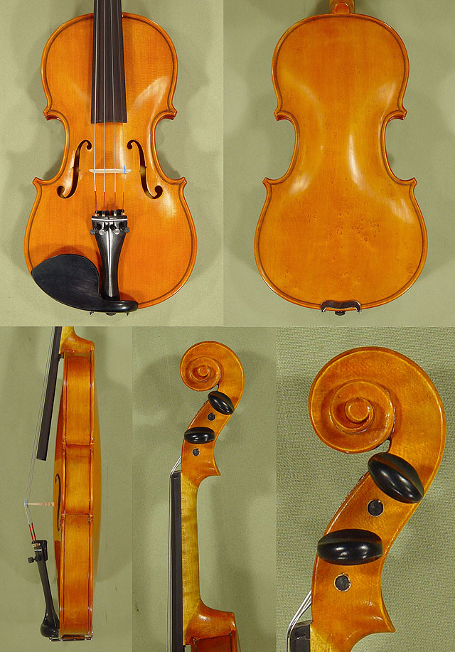 Antiqued 1/2 School 'GENIAL 1-Oil Special' Bird's Eye Maple One Piece Back Violin
