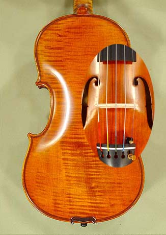 4/4 PROFESSIONAL 'GAMA Super' Five Strings One Piece Back Violin on sale