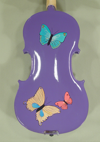 4/4 WORKSHOP 'GEMS 1' Purple Butterflies Violin Guarneri Model on sale