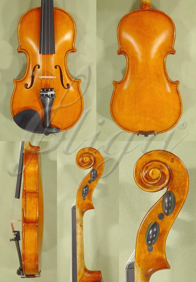 Antiqued 1/4 ADVANCED Student 'GEMS 2' Bird's Eye Maple One Piece Back Violin