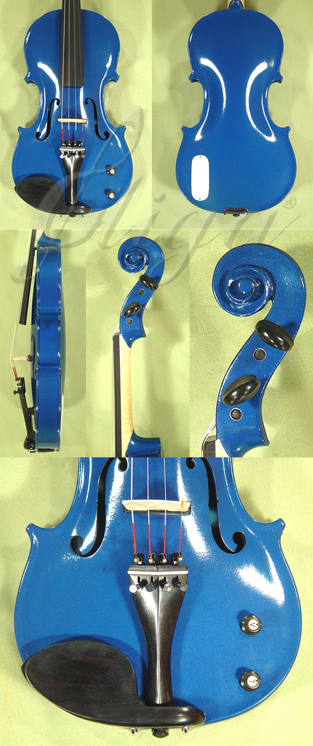 Metallic 4/4 ADVANCED Student 'GEMS 2' Electric Blue Violin