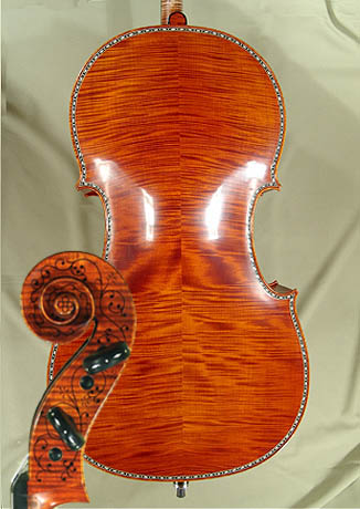 4/4 MAESTRO VASILE GLIGA Rare Inlaid With Bone and Ebony Purfling Inlay Work Copy of 'Hellier 16 on sale