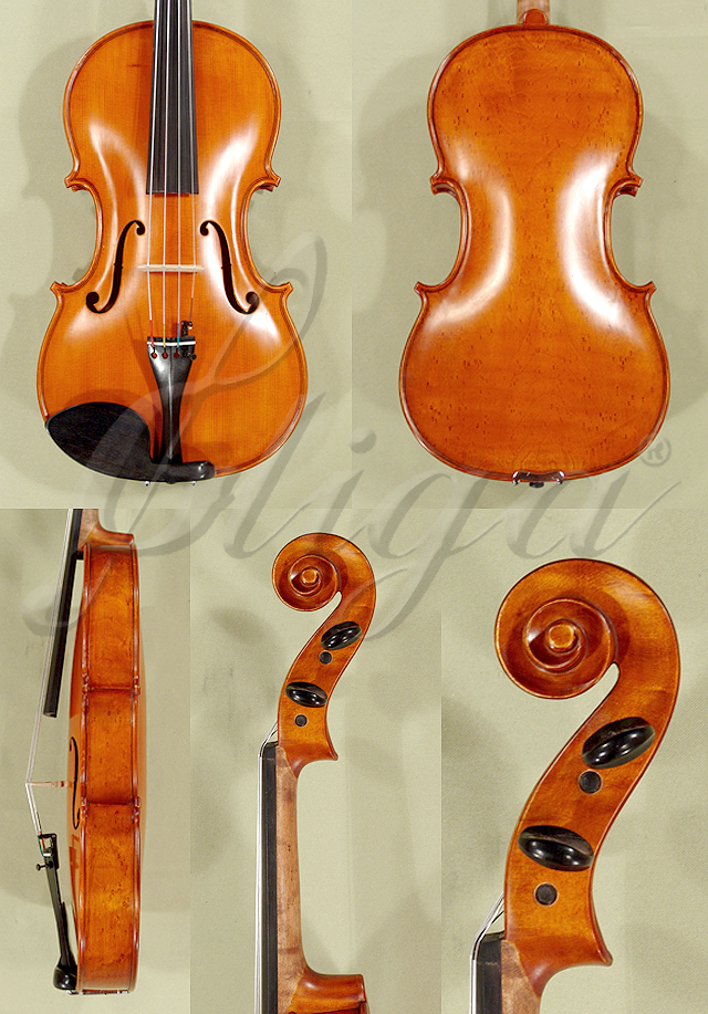 "Antiqued 15.5"" WORKSHOP 'GEMS 1' Bird's Eye Maple One Piece Back Viola"