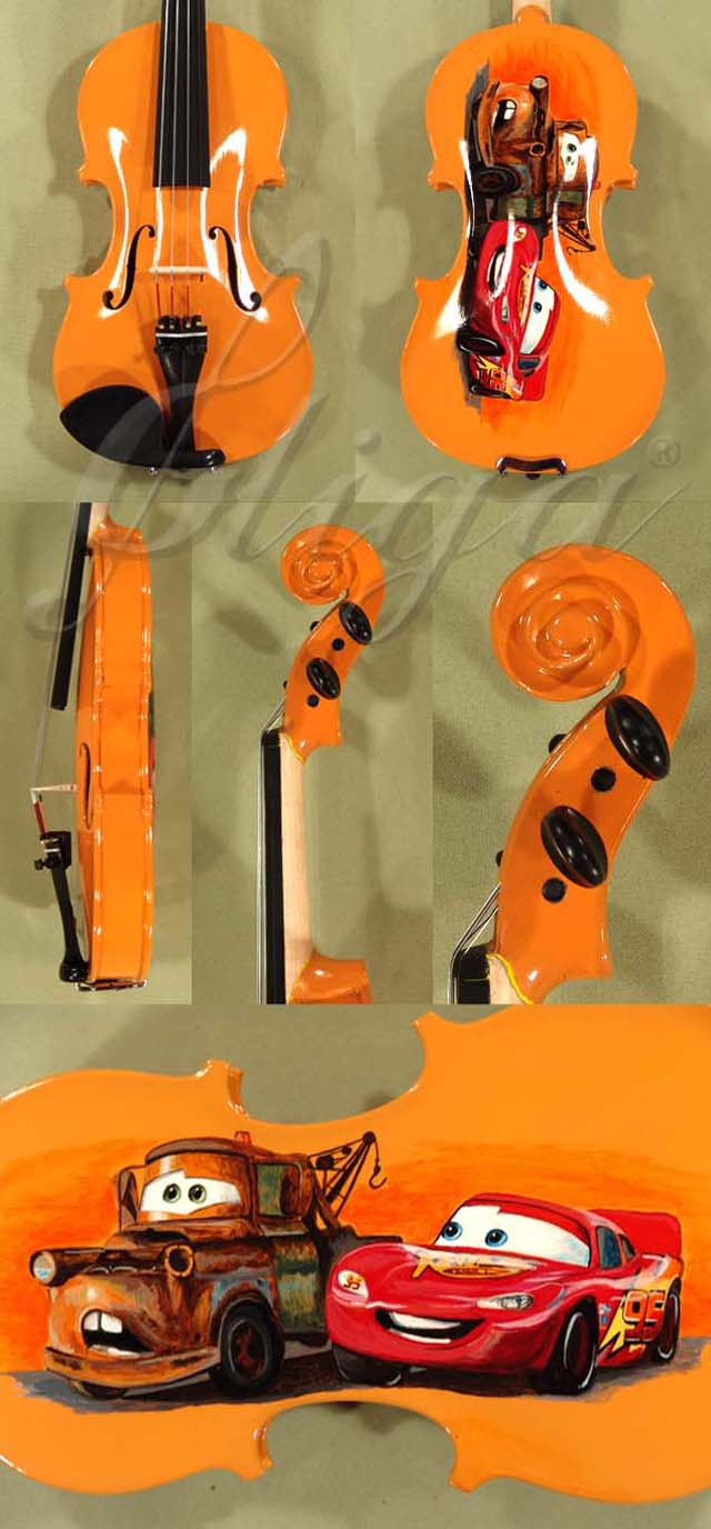 1/4 ADVANCED Student 'GEMS 2' Orange 'Cars' Violin