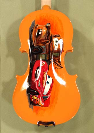 1/4 ADVANCED Student 'GEMS 2' Orange 'Cars' Violin on sale