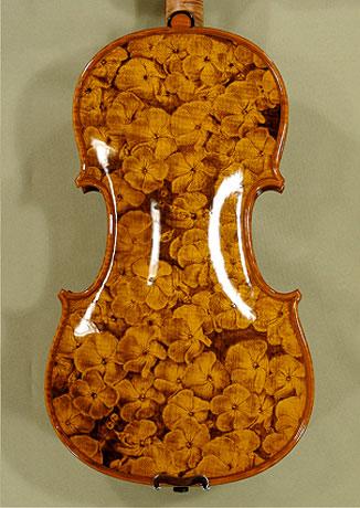 4/4 MAESTRO VASILE GLIGA \'FLOWERS\' Pyrogravure One Piece Back Violin on sale