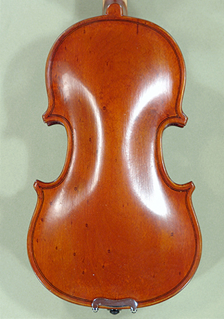 Antiqued 1/16 School 'GENIAL 1-Oil Special' Bird's Eye Maple One Piece Back Violin on sale