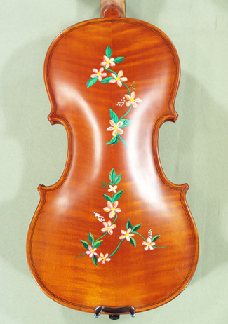 1/2 WORKSHOP \'GEMS 1\' Painted Flowers Violin on sale