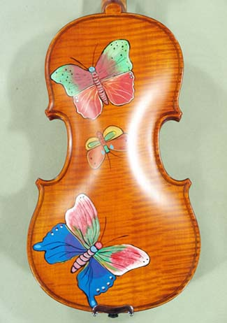 1/2 WORKSHOP \'GEMS 1\' Painted Butterflies Violin on sale