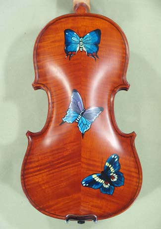 1/4 WORKSHOP 'GEMS 1' Painted Butterflies Violin on sale
