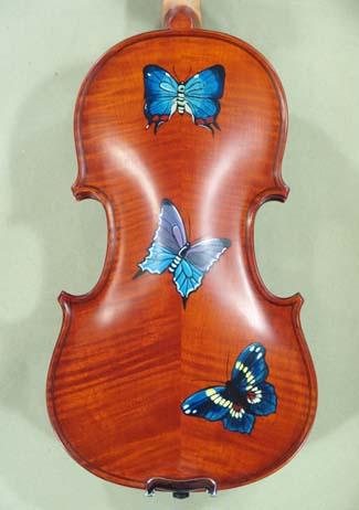 1/4 WORKSHOP 'GEMS 1' Painted Butterflies Violin on sale
