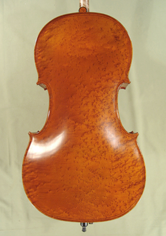 4/4 MAESTRO VASILE GLIGA Inlaid Double Purfling Bird\'s Eye Maple One Piece Back Cello on sale