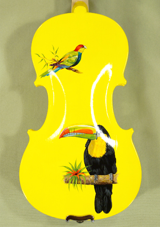 1/2 ADVANCED Student 'GEMS 2' Painted Yellow Birds Violin on sale