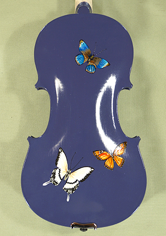 4/4 ADVANCED Student \'GEMS 2\' Painted Purple Butterflies Violin on sale