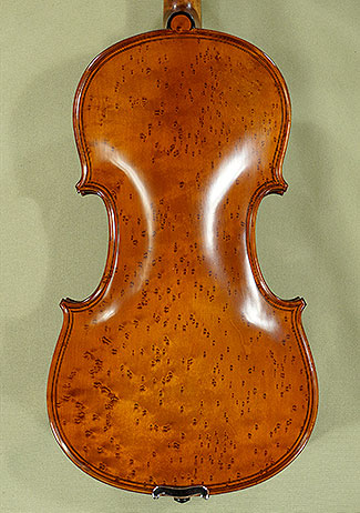 4/4 MAESTRO VASILE GLIGA Inlaid Double Purfling Densely Bird\'s Eye Maple One Piece Back Violin on sale