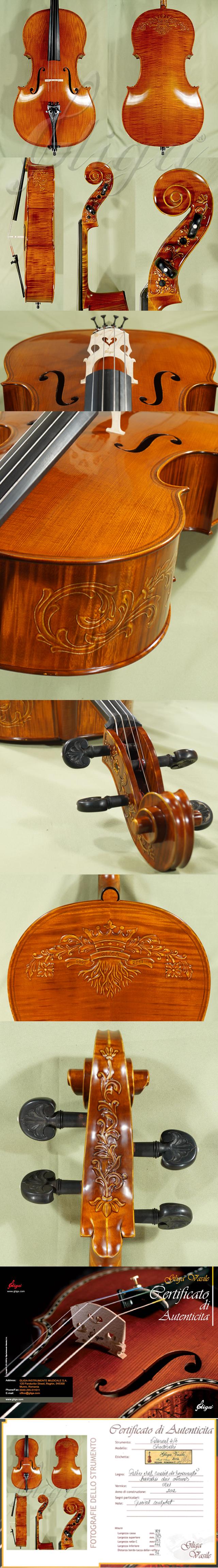 4/4 MAESTRO VASILE GLIGA Inlaid Double Purfling Cello