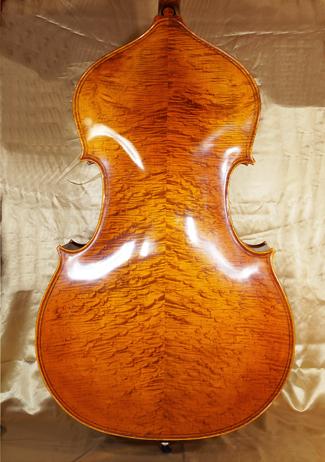 3/4 MAESTRO VASILE GLIGA Inlaid Double Purfling Densely Bird\'s Eye Maple Double-Bass  on sale
