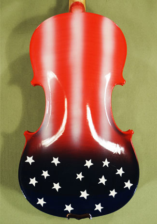 4/4 ADVANCED Student 'GEMS 2' Painted US Flag Violin Guarneri Model  on sale