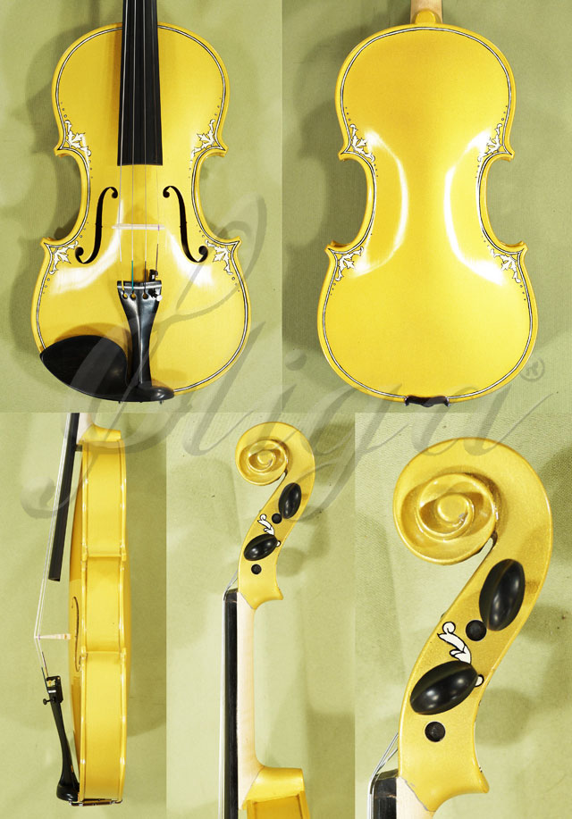4/4 ADVANCED Student 'GEMS 2' Painted Golden Arabesque Violin
