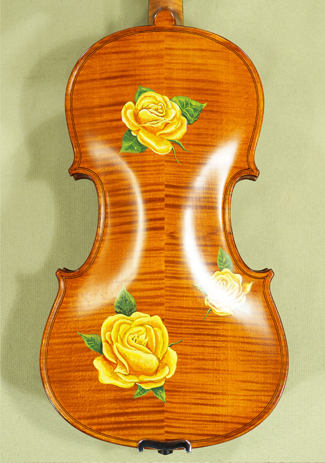3/4 WORKSHOP 'GEMS 1' Painted Roses Violin  on sale