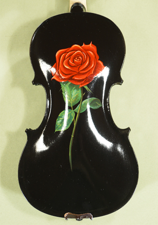 1/2 ADVANCED Student 'GEMS 2' Painted Black Red Rose Violin on sale