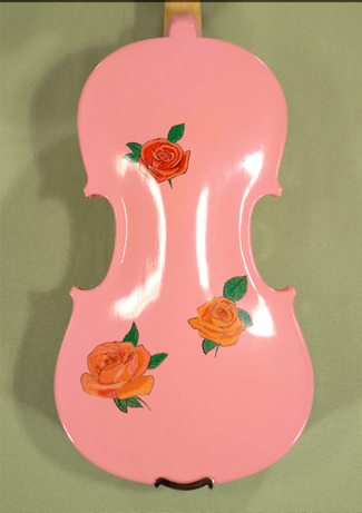 1/2 ADVANCED Student \'GEMS 2\' Painted Pink Roses Violin on sale