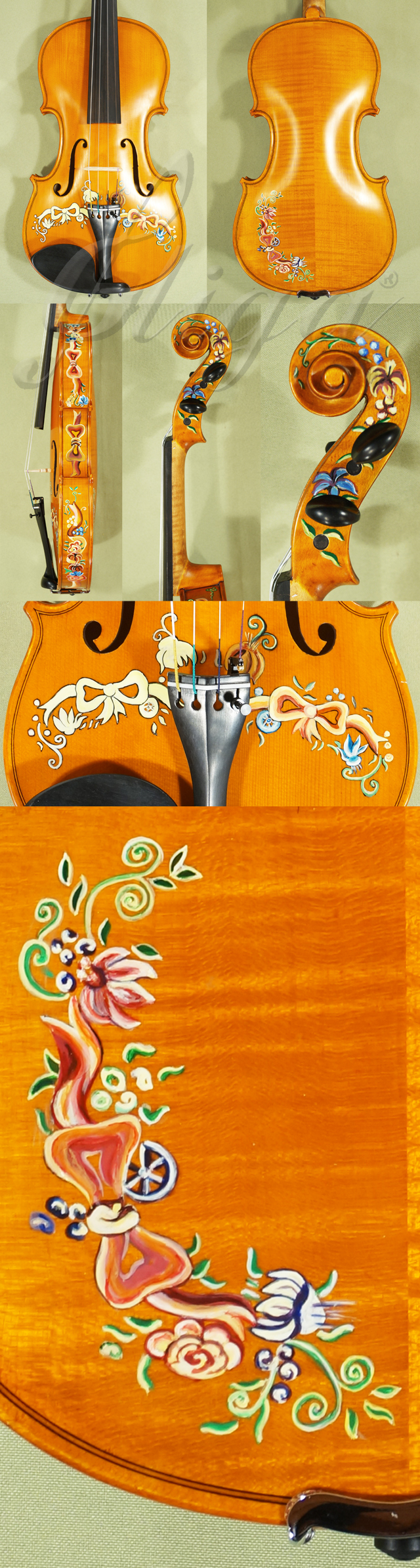 4/4 WORKSHOP 'GEMS 1' Painted Arabesque Violin