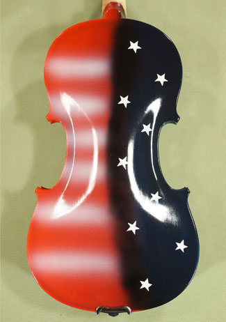 4/4 ADVANCED Student 'GEMS 2' Painted US Flag Violin on sale