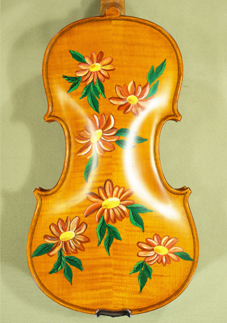 4/4 WORKSHOP 'GEMS 1' Painted Flowers Violin on sale