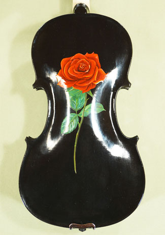4/4 ADVANCED Student 'GEMS 2' Painted Black Roses Violin on sale